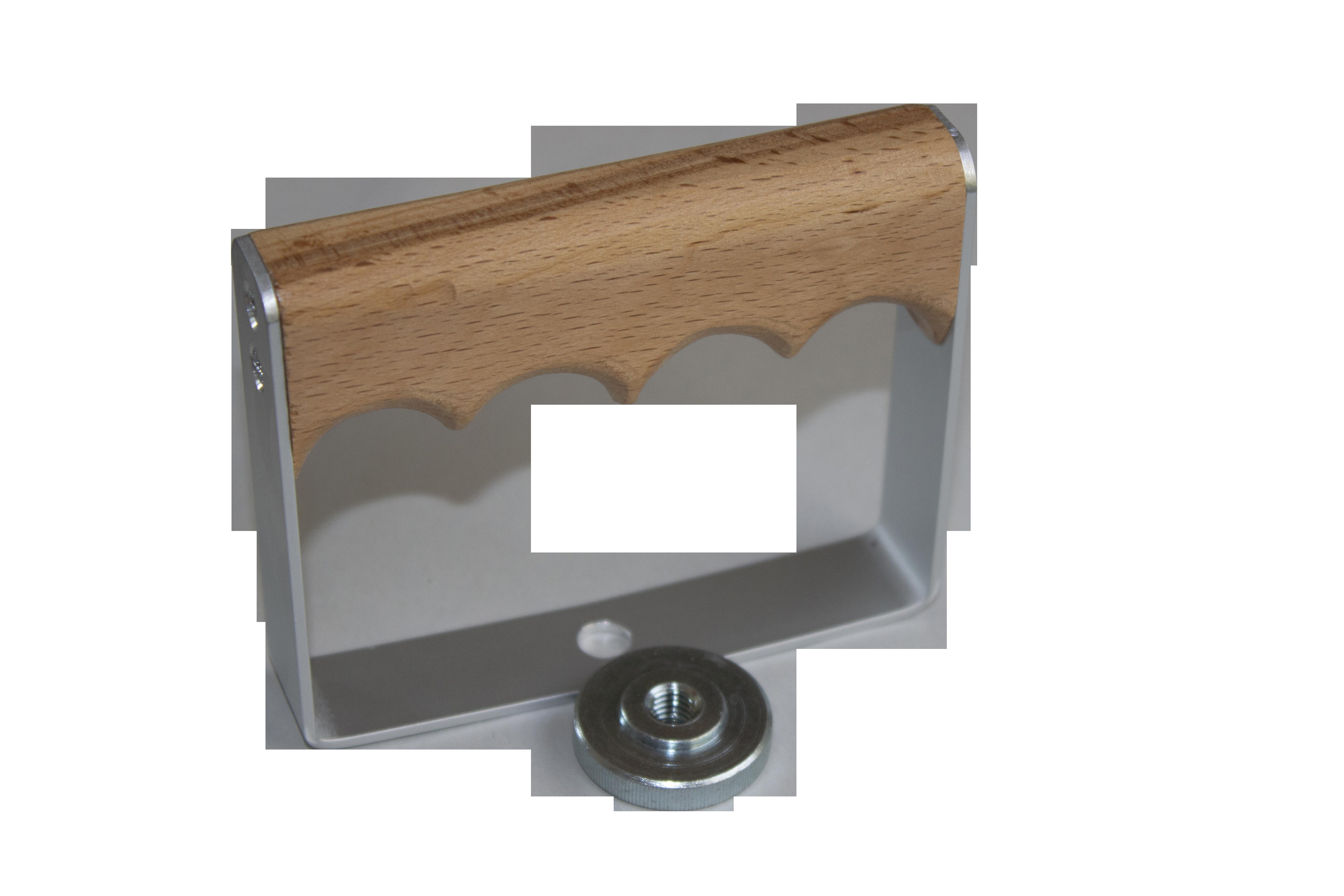 Bügelgriff, Aluminium - Holz (414)